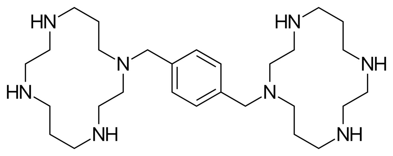 Credit:    Skeletal formula of plerixafor    by Fvasconcellos is in the public domain and licensed as CC0.
