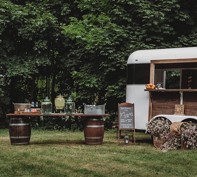 I have felt so overjoyed lately planning for the rest of our summer! Decorating, staging, planning, it all adds up to an amazing presentation and something about seeing everyone enjoy a finished product makes a project worth it!  We can't wait to celebrate with you 🙌🏼 #maineweddings #horsetrailerbar #gingypsymaine