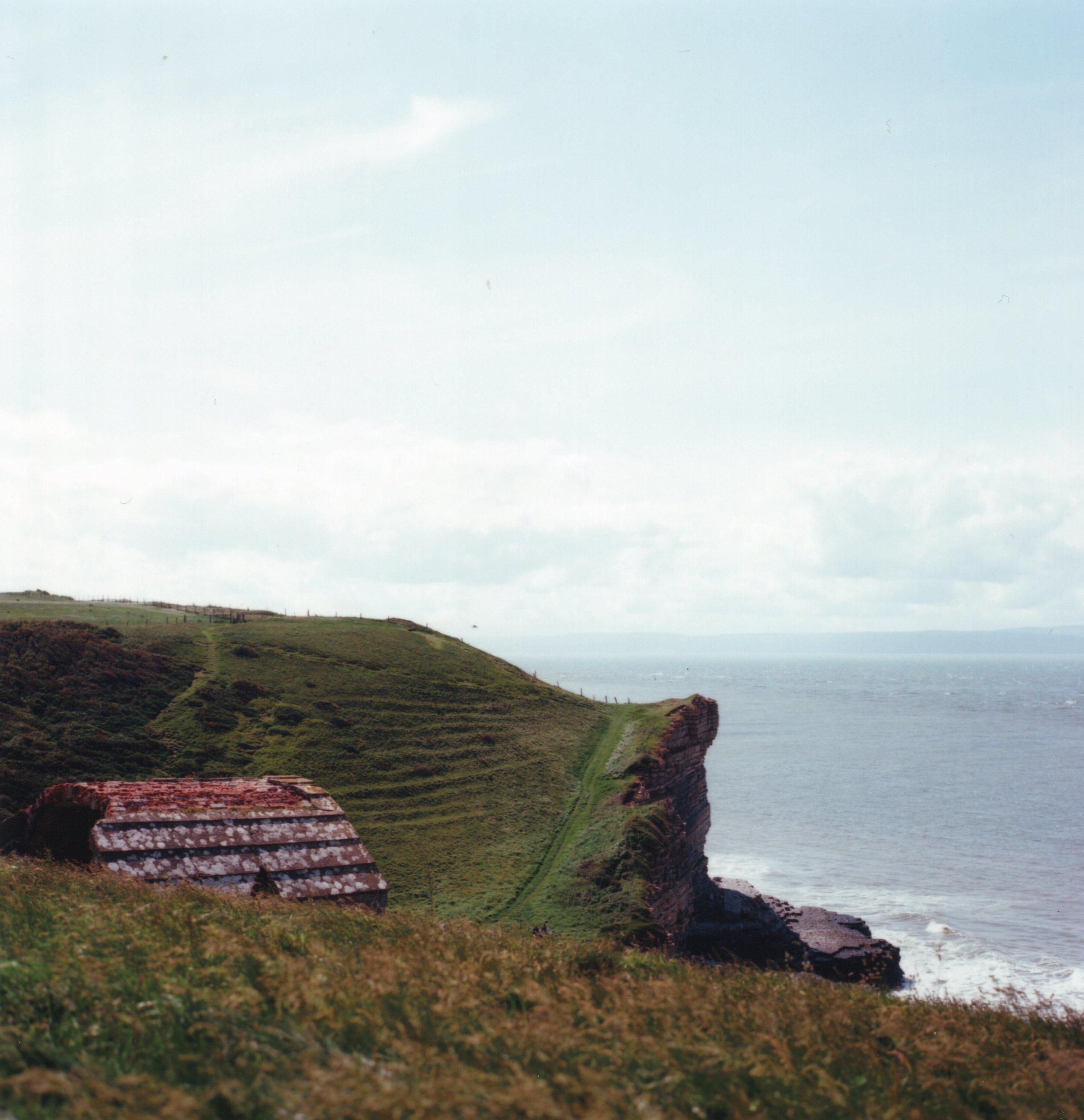 The cliffs at Monknash in the Vale of Glamorgan. Zenza Bronica S2A, Kodak Ektar 100.