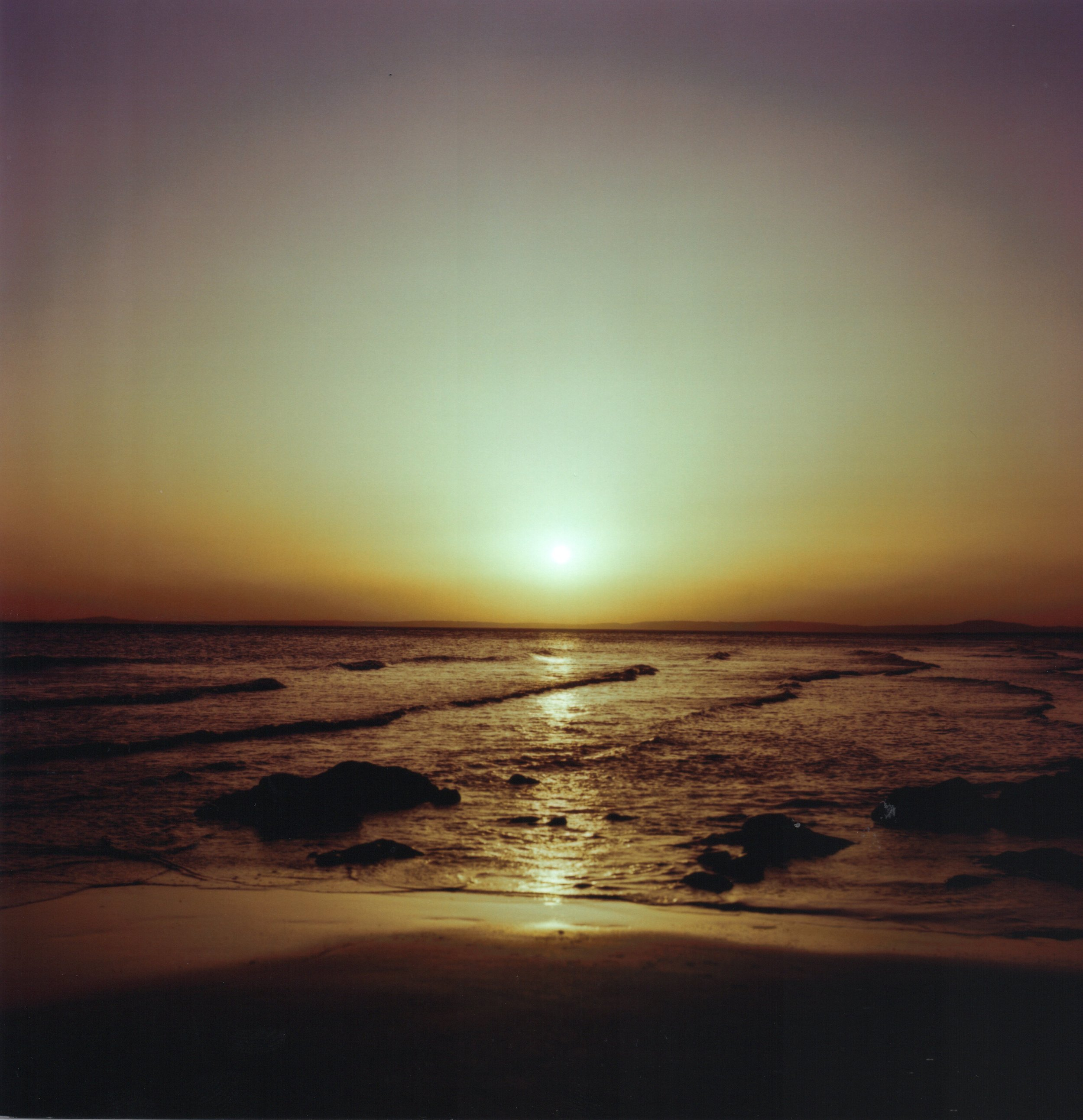 Rest Bay at sunset. Zenza Bronica, Kodak Ektar 100.
