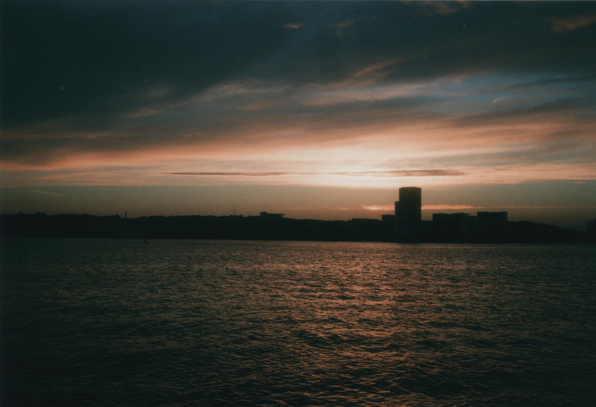 Cardiff At Sunset - Taken back in 2016 on the trusty Olympus trip and featuring In the Glasgow Gallery Of Photography's new exhibition