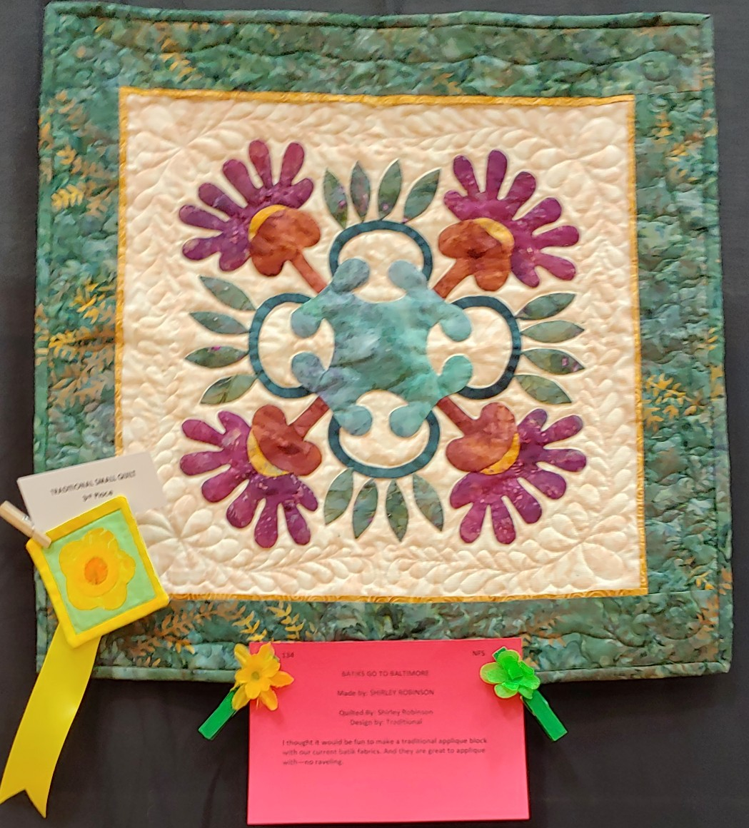 3rd Prize Traditional Small Quilt
