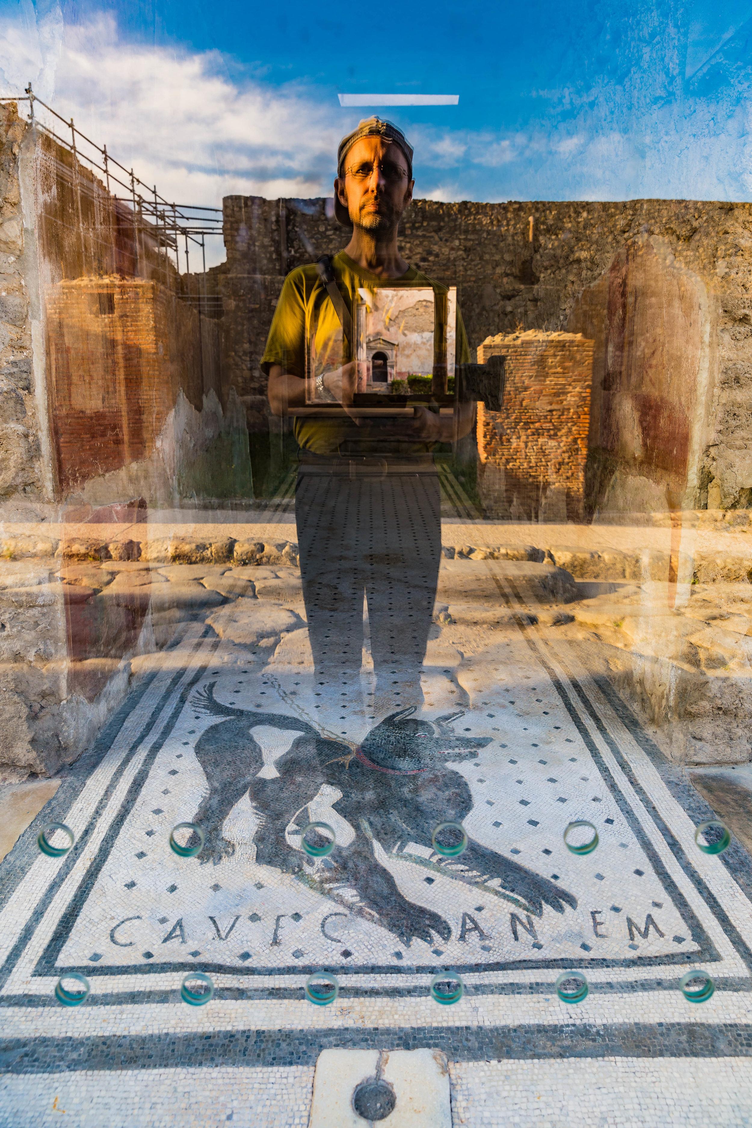 Selbstporträt in Pompeii