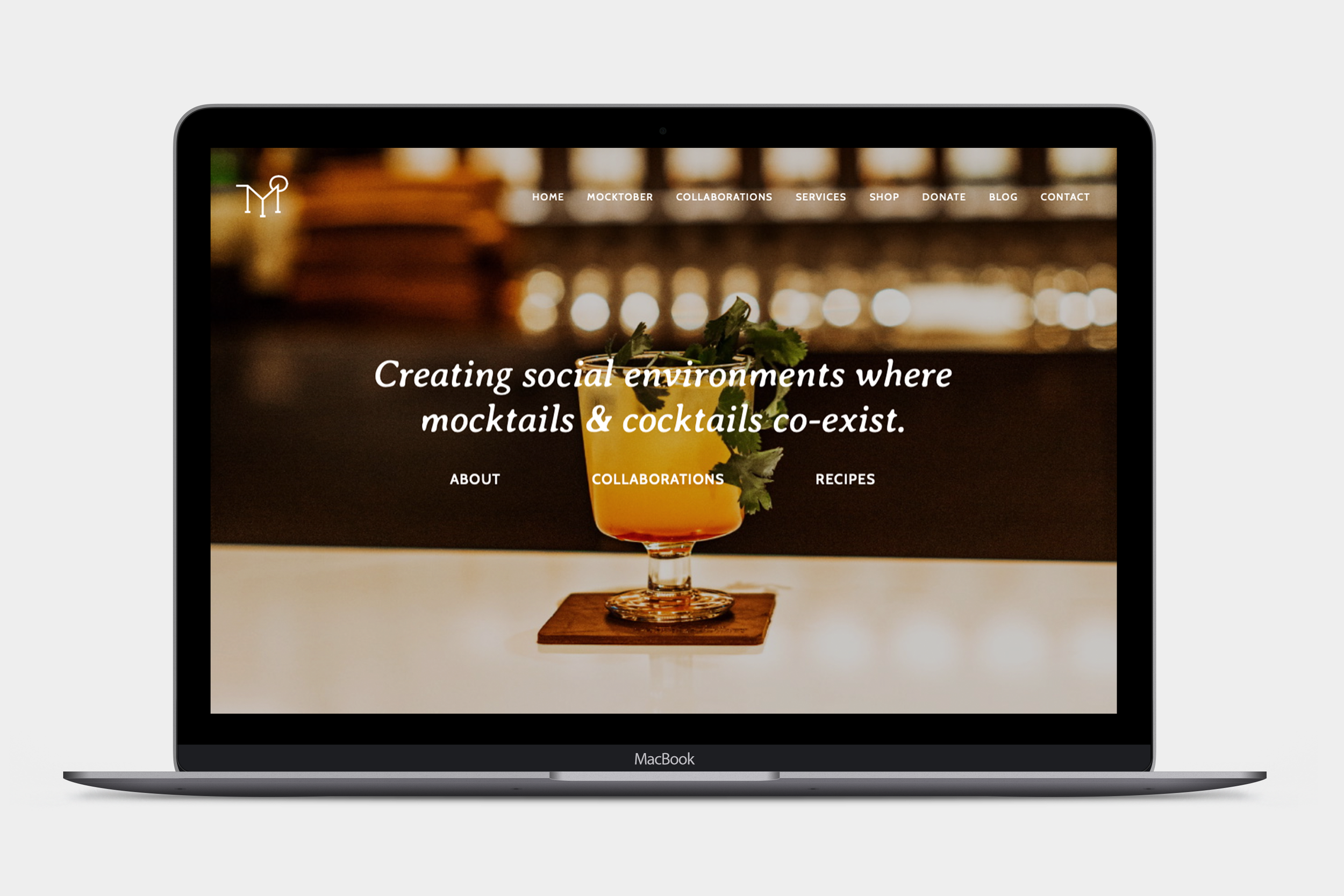 Courtesy of – Squarespace Website Design - The Mocktail Project