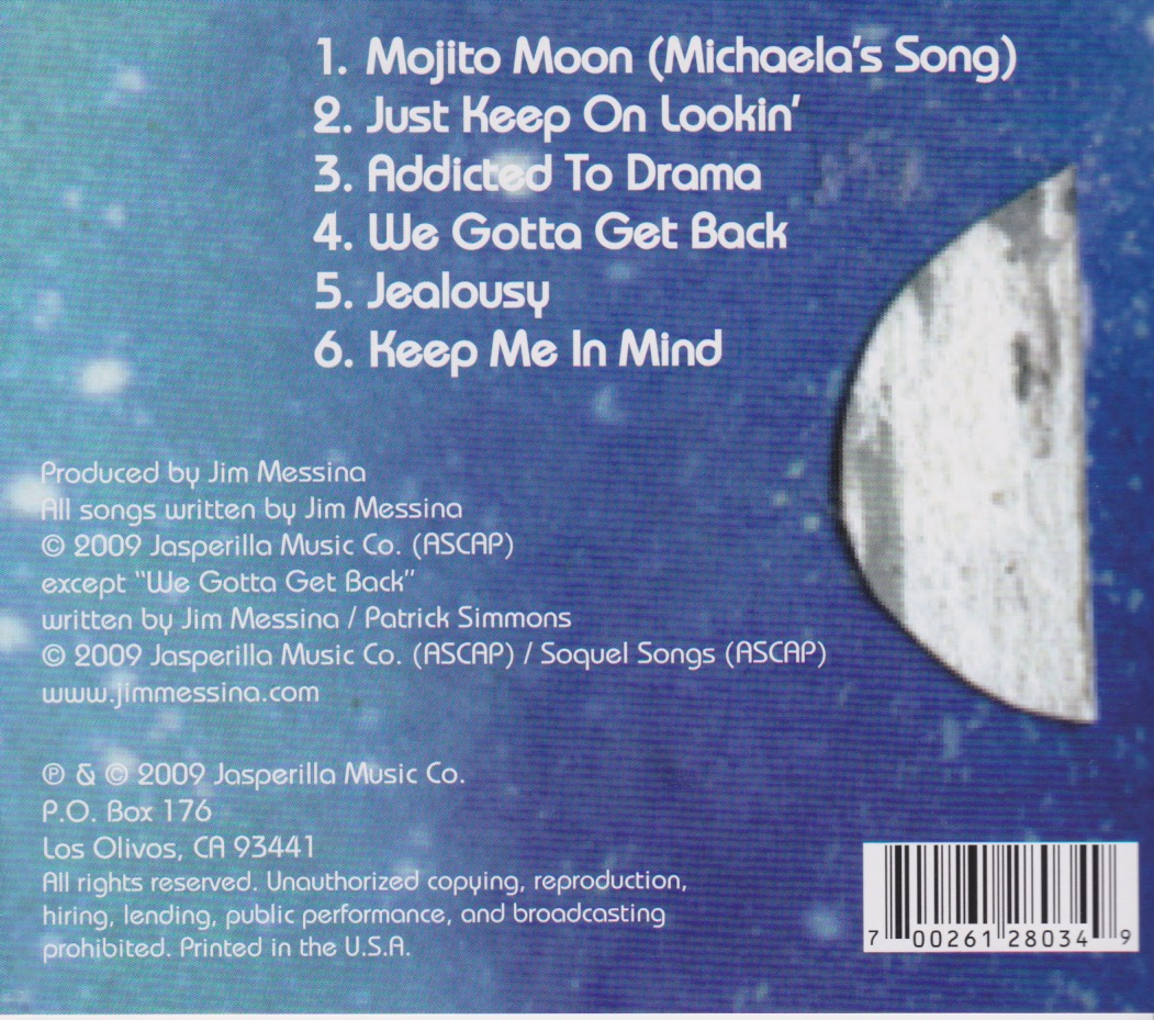 "SONG LIST FOR ""UNDER A MOJITO MOON"""