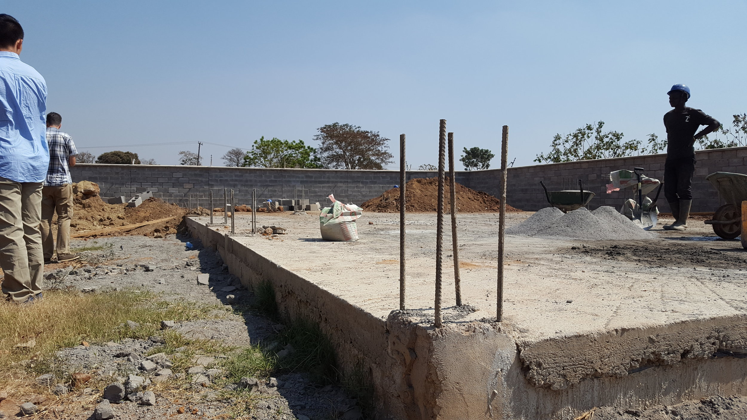 The foundation being laid for one of the structures on the future site of CAPA