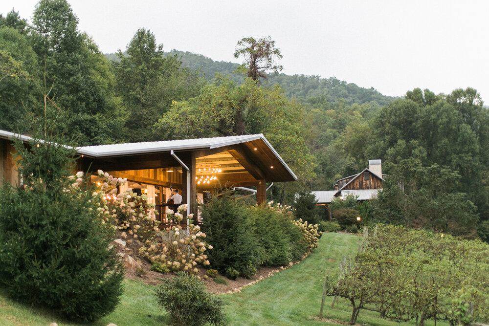 Vineyard at Bettys Creek Wedding Venue WNC Asheville - War The Hudson Gardens & Event Center August 25