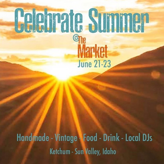 It's here! It's here! It's here!  Happy Solstice, friends!  Solstice means that @themarket_idaho starts today.  Join us from 5-8 at @hotelketchum for chill vibes, great food and drink, and the best handmade goods around.  The Hangout will have drink specials until 6:00, @independentgoods will be pouring champagne, and DJs will be spinning tunes.  We'll see you there! . . #themarket #themarketathotelketchum #themarket2019 #maker #hotelketchum #visitsunvalley #summerinsunvalley #ketchum #sunvalleyidaho  #makersmarket #handmademarket #visitidaho #design #handmade #handcrafted #craftshow #vintageshow  #craft #art #market  #visitidaho  #handmade #idahoartist #solstice #solsticeparty