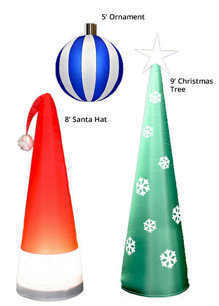 The Holidays are here! - Bring the holiday cheer to your home or next event with our bright and bold holiday inflatables! Meet our brand new AirDD Christmas Collection!✓ Ornaments✓ Christmas Trees✓ Santa Hats✓ Snowflakes