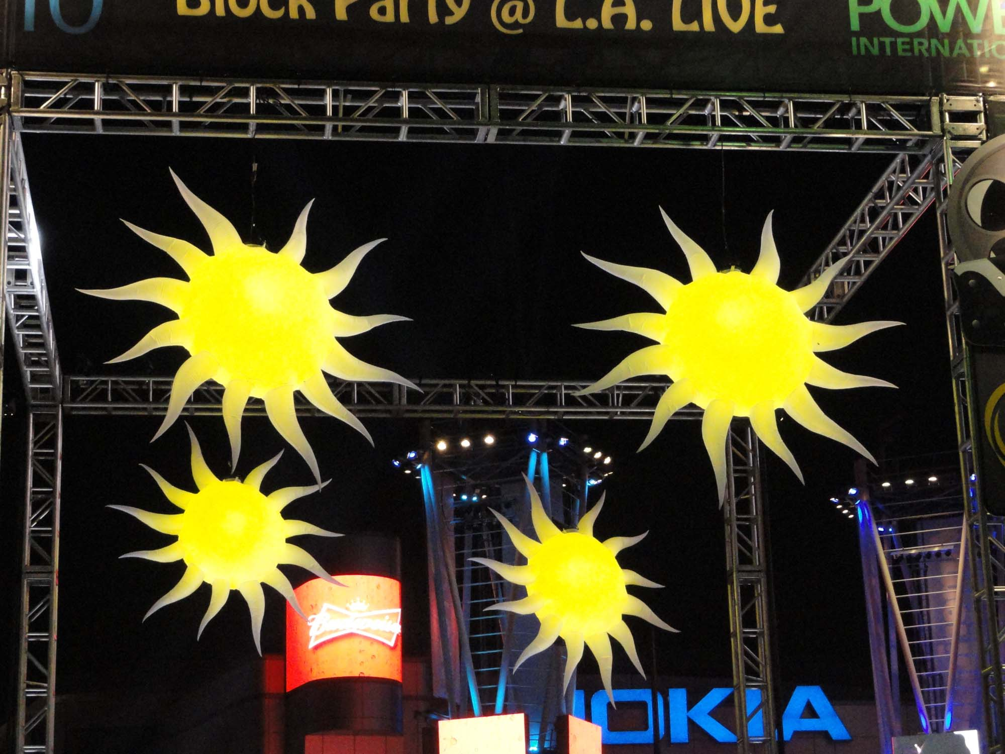 Sun Hi-Lights over a Festival Stage