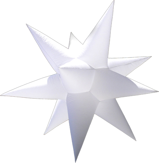Stars - Transform your space into a starry night. Perfect as an accent to a contemporary environment or as the main décor for a holiday event. Use it night or day for award ceremonies, gala events, dance parties, or any event that needs a touch of glamour. Beautiful in white or add colored lighting to fit any celebration.✓ Combine different types of stars with others to add depth and richness to a starry sky design.✓ Compact & Lightweight✓ Less than 5 minute install✓ Use with compact fluorescent light or LED light