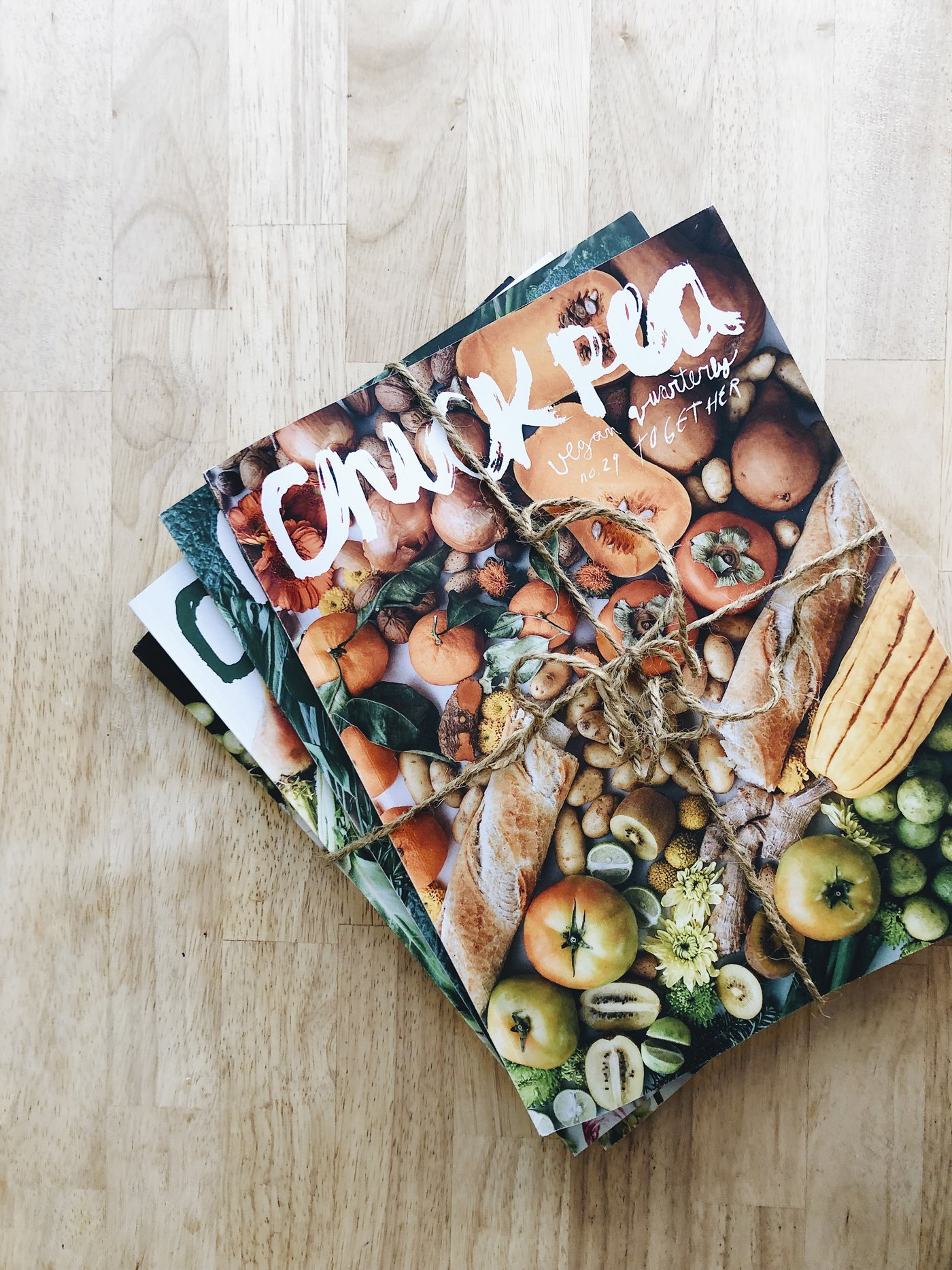 CHICKPEA - Chickpea is a vegan food & writing quarterly, bringing whole-foods cooking & living to a beautiful, practical level.Their issues are filled with evergreen recipes, DIY projects, personal stories, how-to guides, and articles on important topics.You can subscribe to Chickpea here.