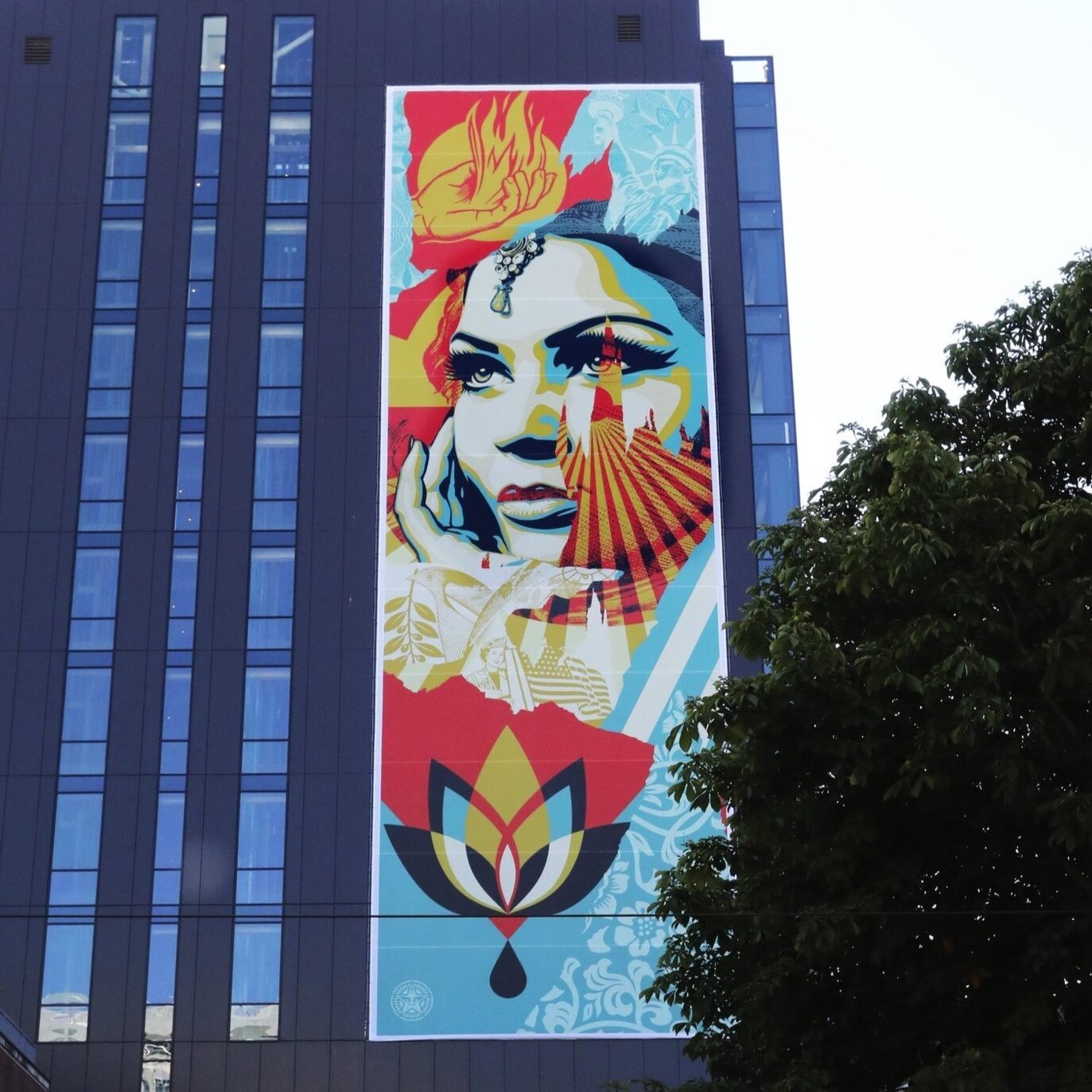 A giant Shepard Fairey print? - featured on seattletimes.com