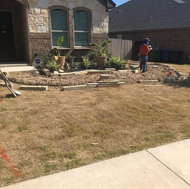 Before...During...After Revamped walkway and fresh new lawn! #landscaper #landscaping #landscapedesign #smallbusiness