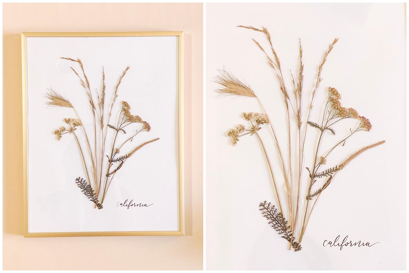 Coastal-California-Foliage-Pressed-Flowers-Phoenix-Feathers-Calligraphy