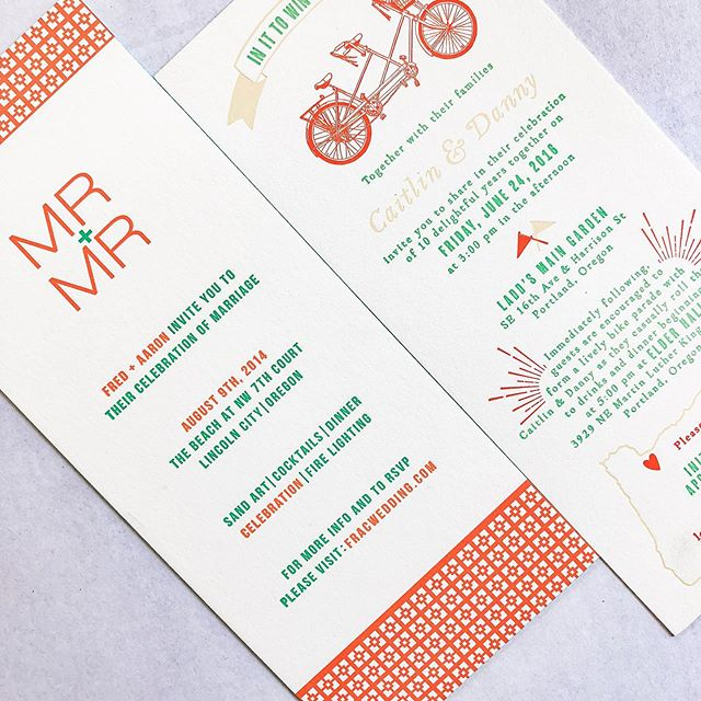 We think you wedding invitation should show off your personalities - they set the tone for the whole day, after all! Grateful, grateful, grateful for fun clients who task us with creating fun invitations.