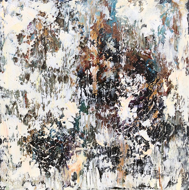 """Rusty Revelation"" 24x24 Acrylic on Canvas"