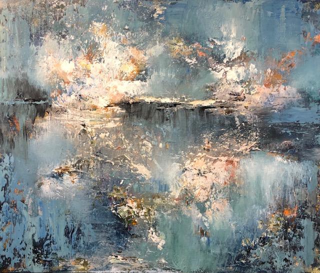 """Shining Blues"" 20x24 Acrylic on Canvas"