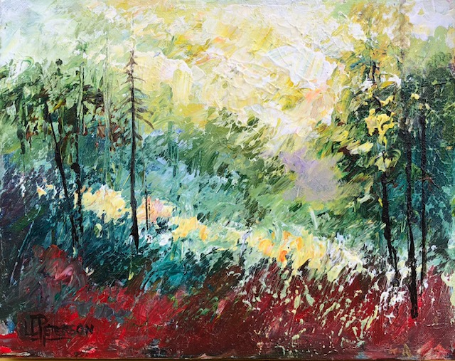 """""""Hillside in Red""""  11x14 Acrylic on Canvas"""