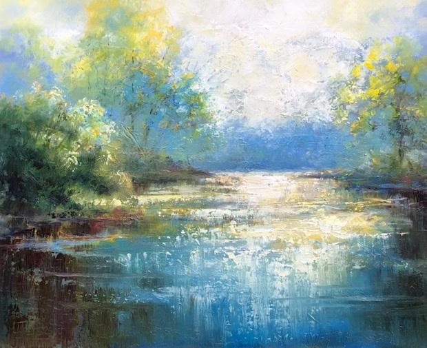 """Lakeshine""  24x30 Oil on Canvas"