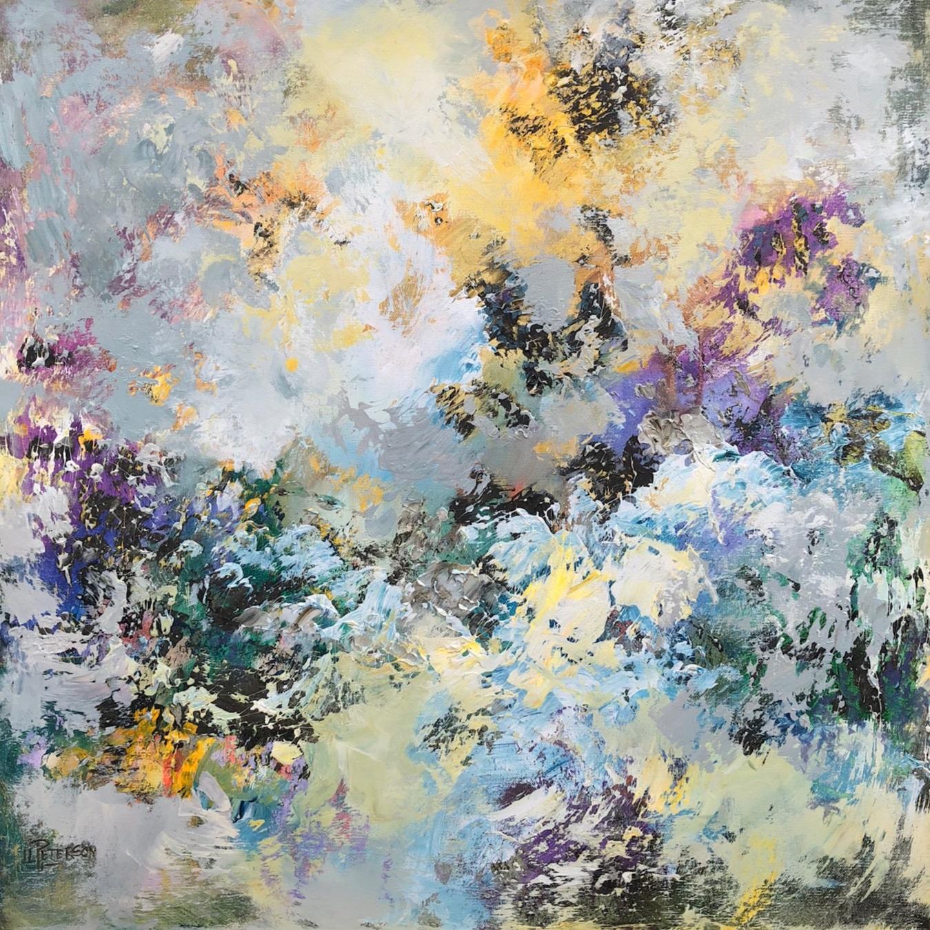 """""""Through the Mists"""" 30x30 Acrylic on Canvas"""