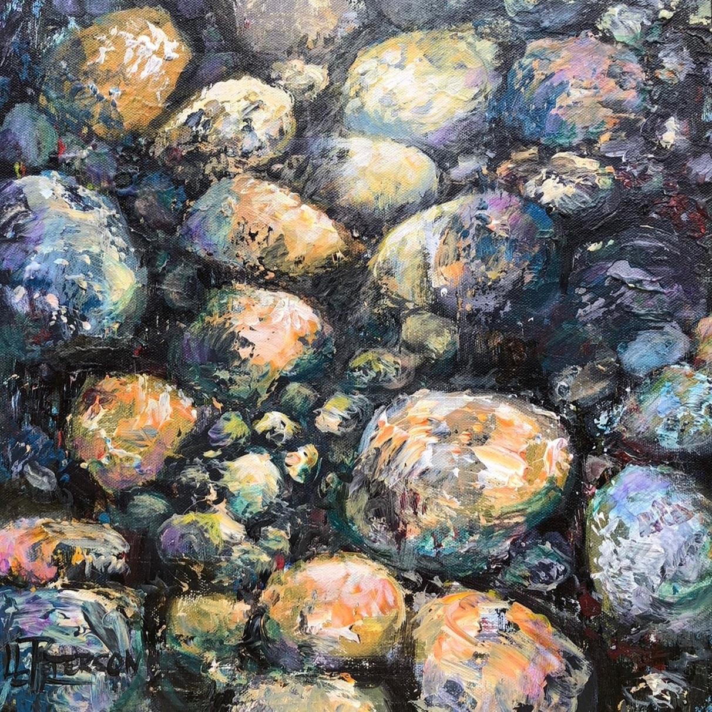 """Beam of Light"" 16x16 Acrylic on Canvas"