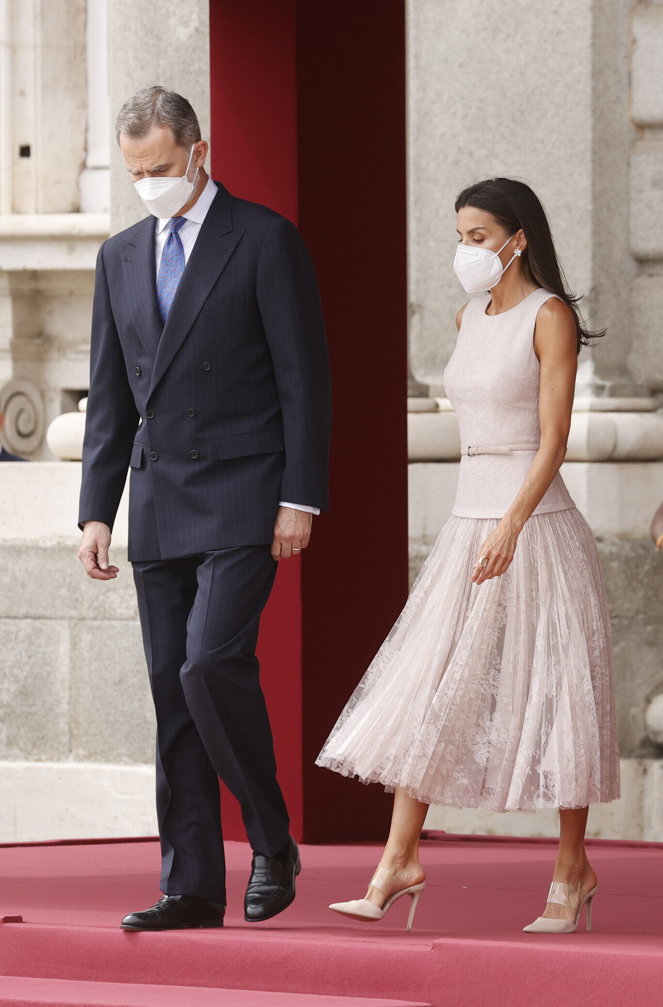 The King and Queen of Spain Welcome the President and First Lady of South Korea for State Visit