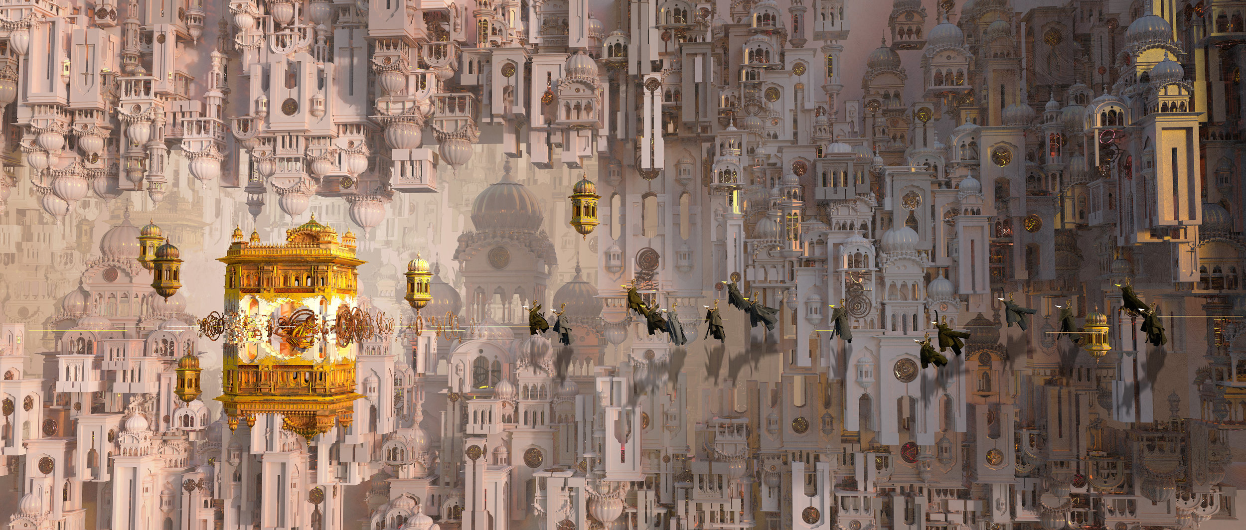 "Te Hu  - ""through time we converge golden temple"""