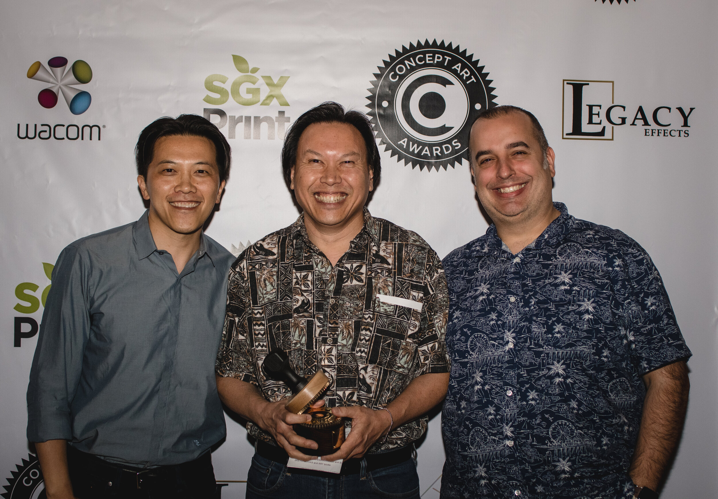 Bobby Chiu, Stuart Ng & Jim Demonakos- LightBox Community Icon Presenters/Winner