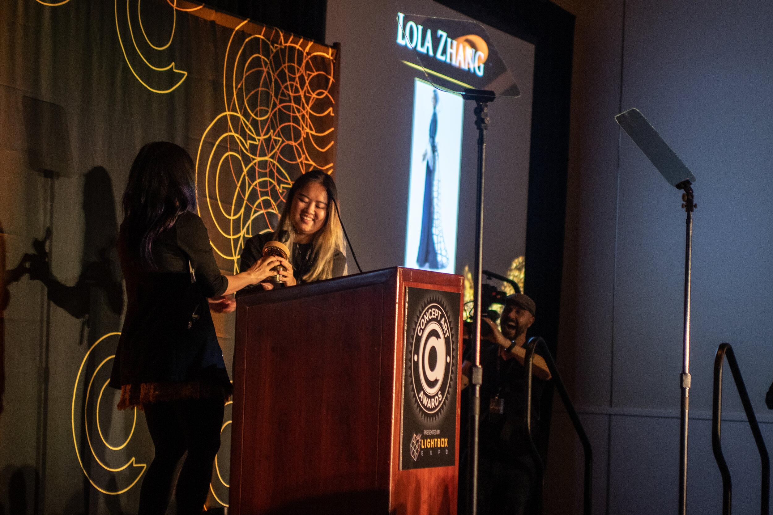 Karla Ortiz & Lola Zhang- Student Character Presenter/Winner