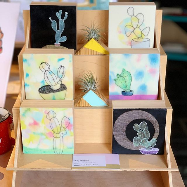 We are very excited to welcome TN artist, @beckydickovitch to the shop! Take a look at her exquisite cacti encaustics! Bet you can't prick 🌵 just one!