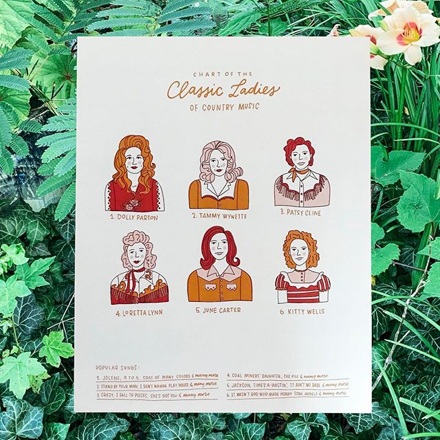Stand by your classic ladies of country with this lovely print from @joannadee. You can find 'em at our Tennessee mountain home @thevillagegatlinburg!  We have new seasonal hours starting this week! M-TH: 10AM-9PM F-S: 10AM-10PM Su: 12PM-9PM
