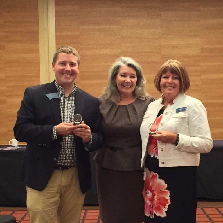 "Bryce receives an award for ""extraordinary leadership"" from the Montana Association of Clerks and Recorders"