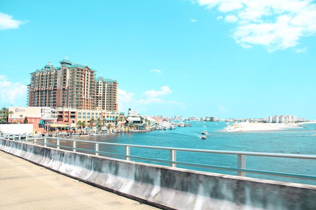 Destin Bridge Overlooking Destin Harbor