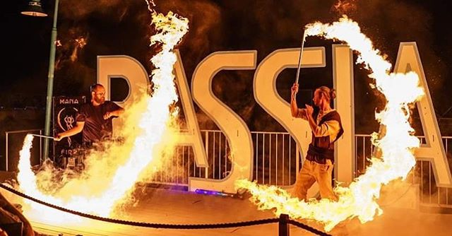 The Fire 🔥 battle between Jedi Ben Berrier and Darth Butler aka @sidsid34 continues on June 15th at @basslakewatersports at 9pm. Photo by @highmountainimages . . . . #firebattle #manafire #maythefirebewithyou  #jedi #fireartists #morefire #fireperformers #basslakewatersports #lycopodium #renegadejuggling