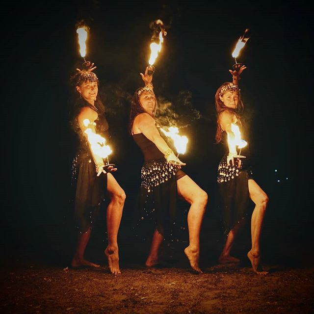Ready for KALifornia Nights this Saturday. We've been working on some new routines. Looking forward to the show!  Pictured here is @ziva_onfire @marginashaylene & @kimtreks . . . . . #manafire #dowhatyoulove #firedancers #palmtorches #professionalfiredancers #fireartists #mediterraneantheme #fireshow #kalifornianights #kalestates #fireladies #dressrehearsal #firetest #justdance #heartsoffire #fireperformers #kimtreks #marginashaylenejones #zivaonfire