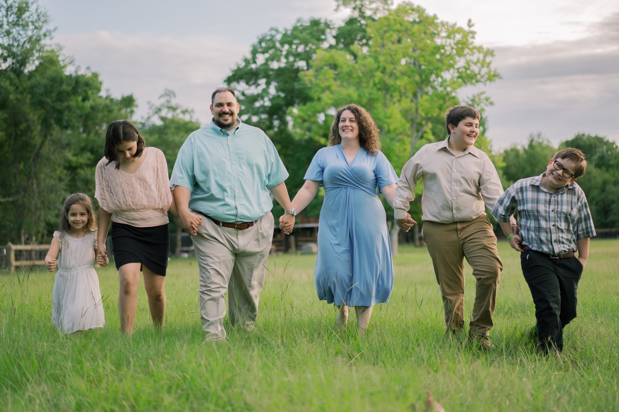 Family portrait session on Redemption Square Farm in Gautier, Mississippi on the Mississippi Gulf Coast.