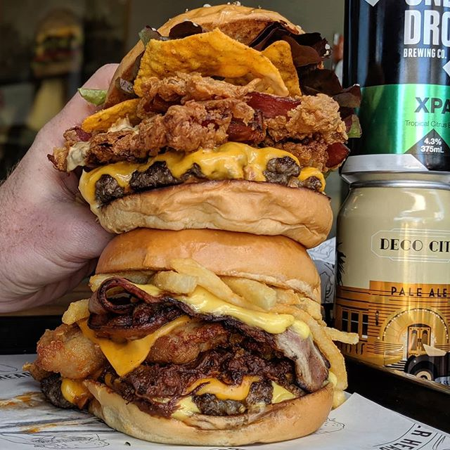 Stacks and stacks of people have been asking for us to visit The Shire - so today we are! From midday @sharkislandbrewing till 8pm ✊ . Those around the 'riff we haven't forgot about you either - we've upgraded some of the courtyard seating so it's more condusive to burgers and beers 🍔🍻 . #IMABURGERHEAD