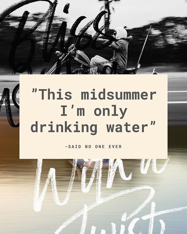 """You don't have to go all out with water but when it comes to hydration, a bottle of """"HYDRATE"""" will do the trick! #blisswithatwist #hydrate #midsummer #juhannus"""