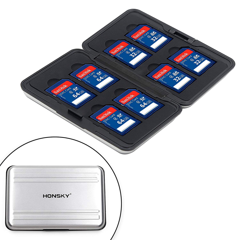 Aluminum Water Resistant SD Card Case