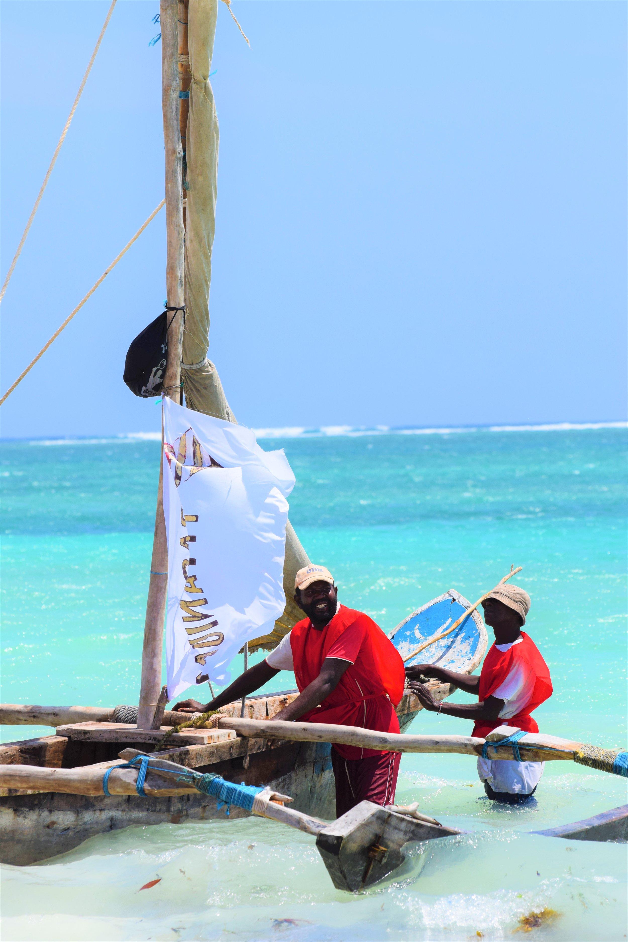 waiting for the start diani regatta kenya