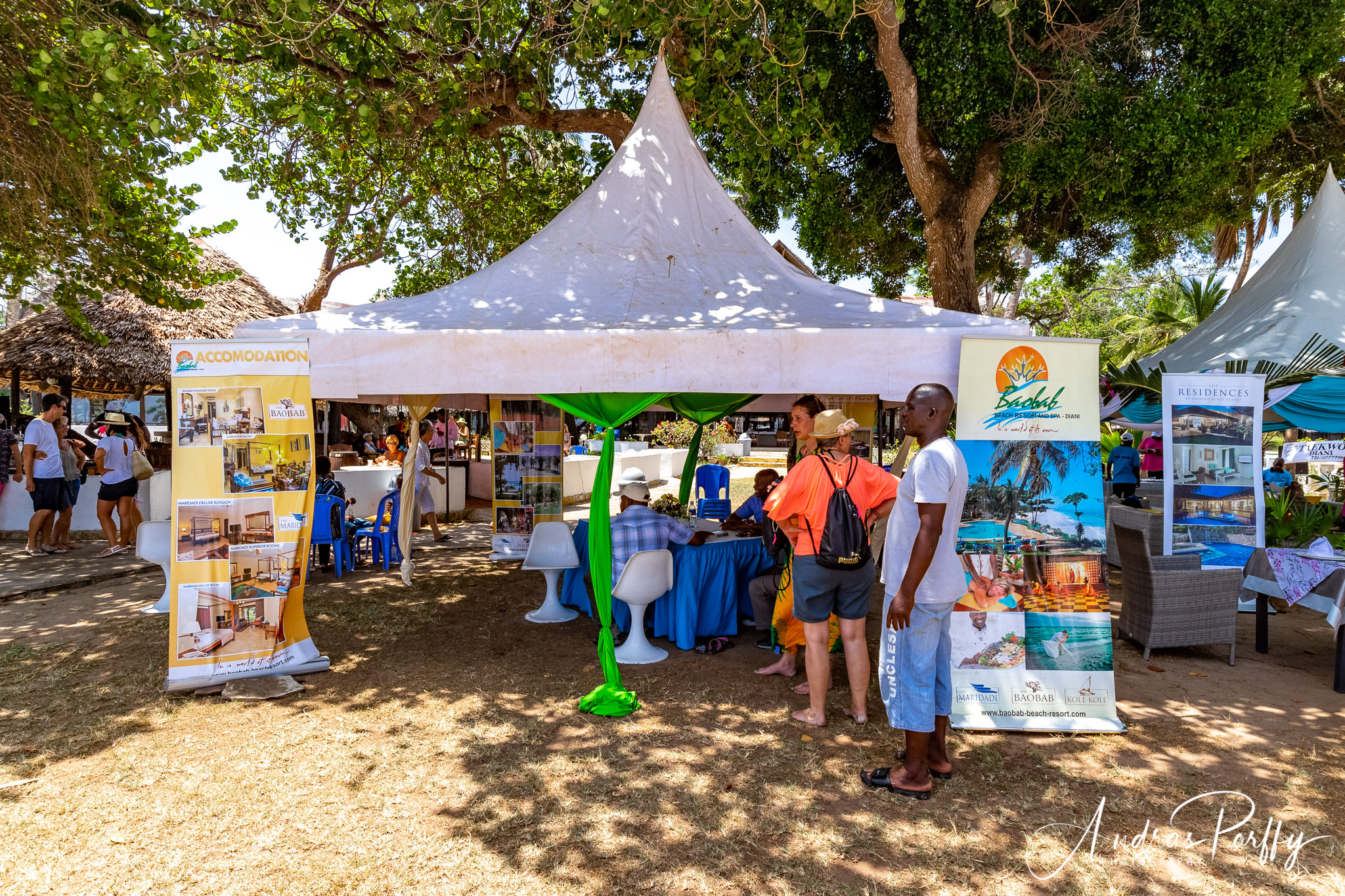 Baobab hospitality tent at Diani regatta