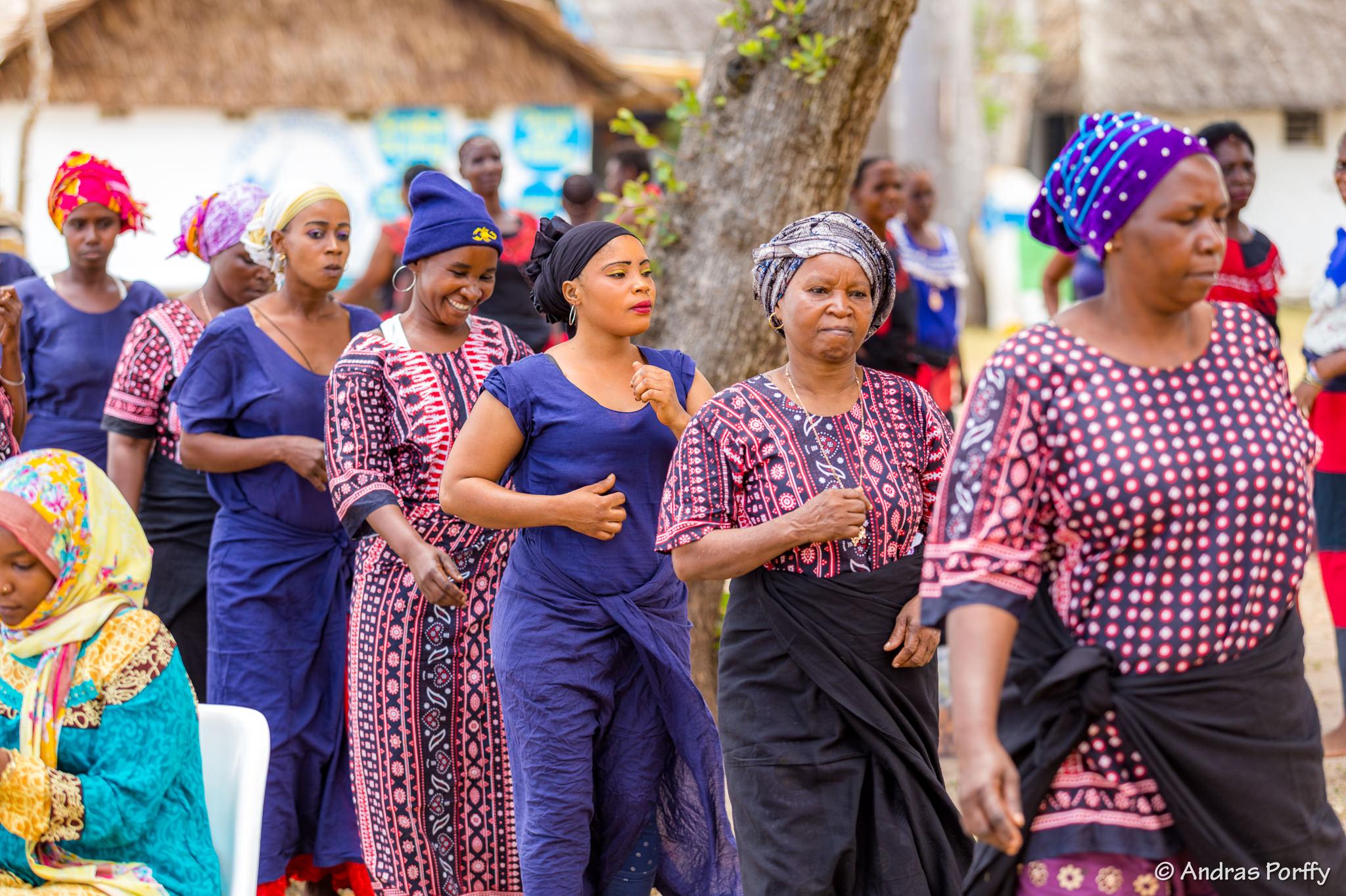 Ladies dancing at Diani regatta Kenya coast