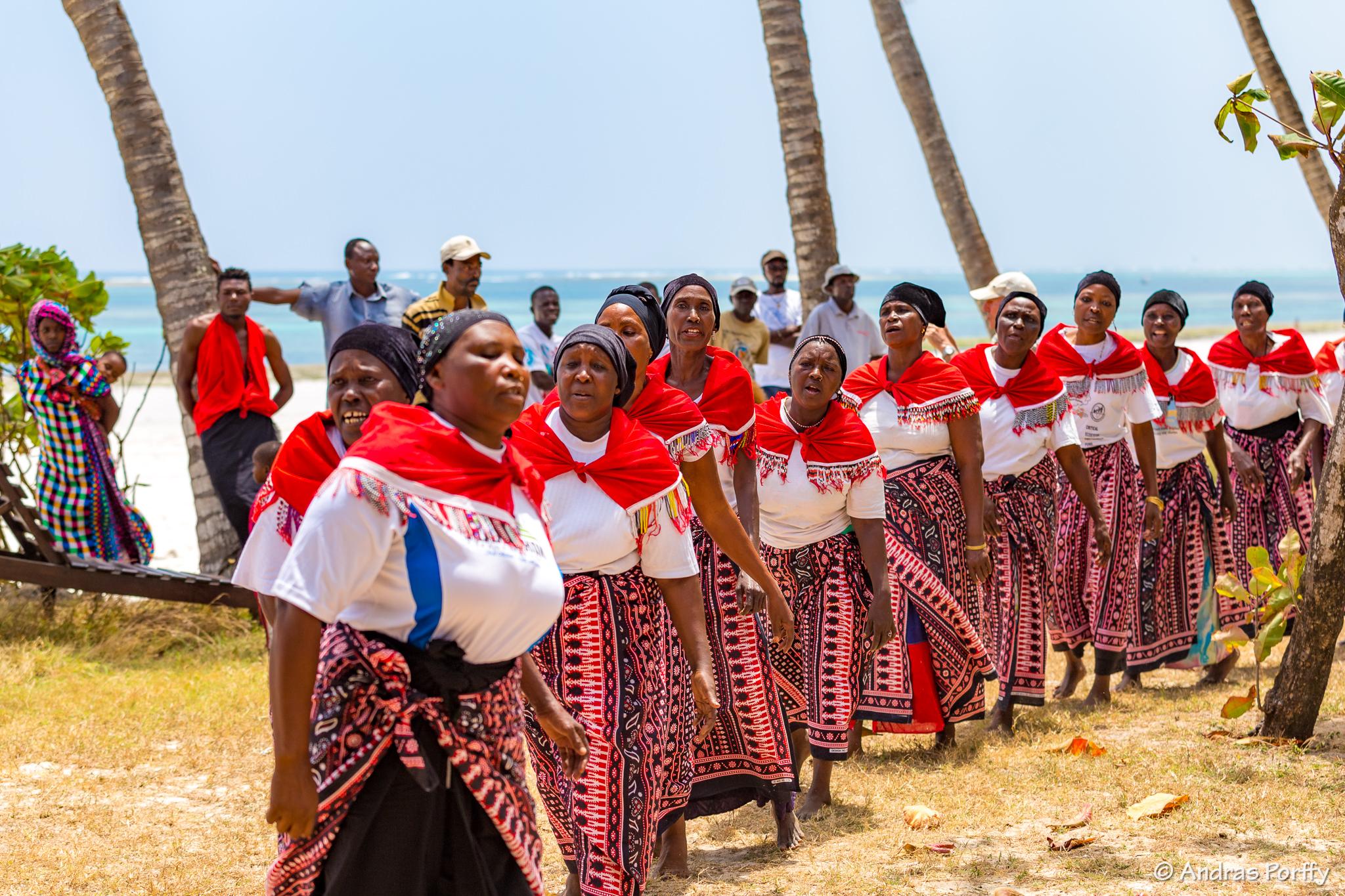 Women dancing at Diani regatta kenya