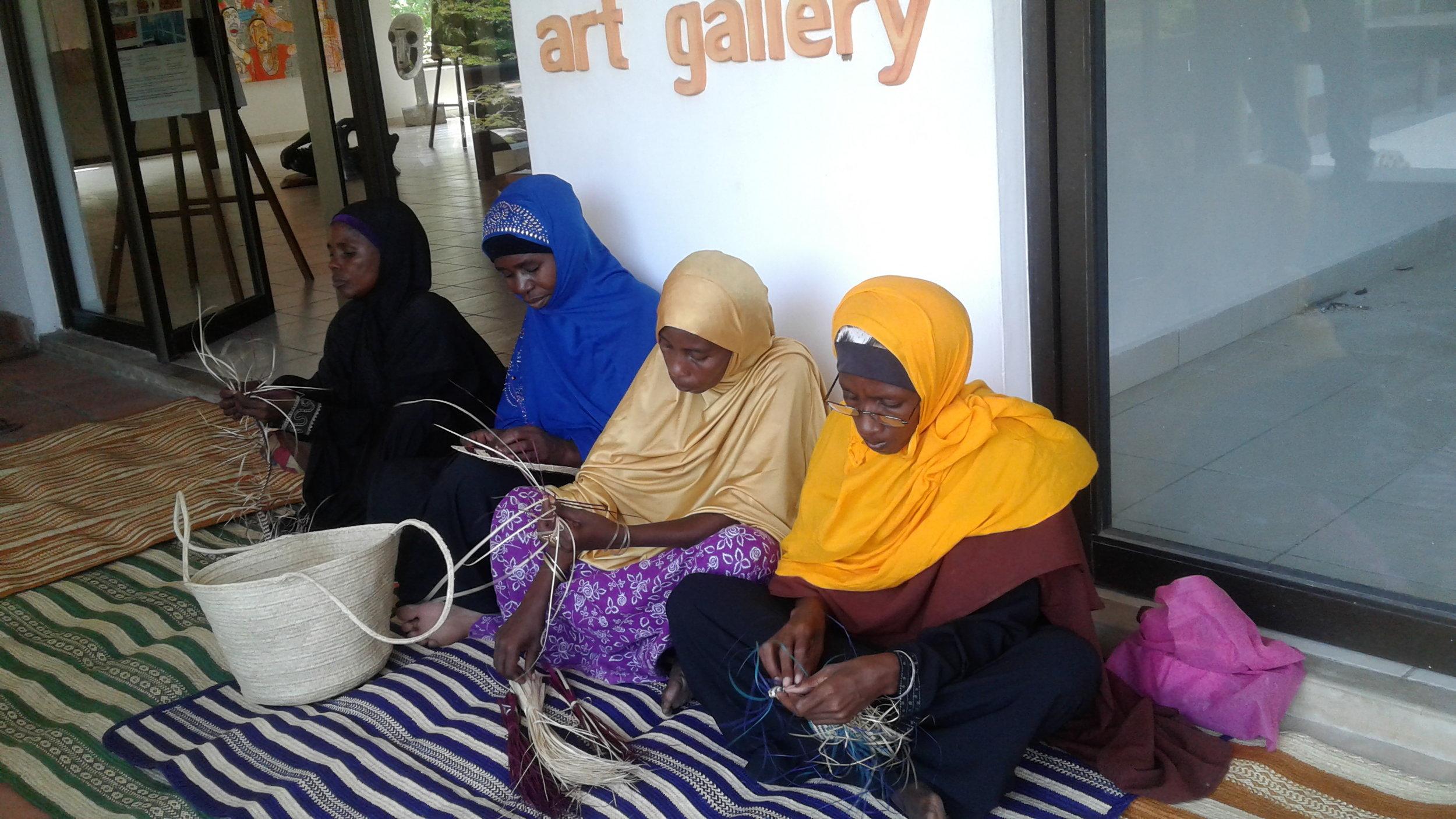 mat weavers in Diani Beach
