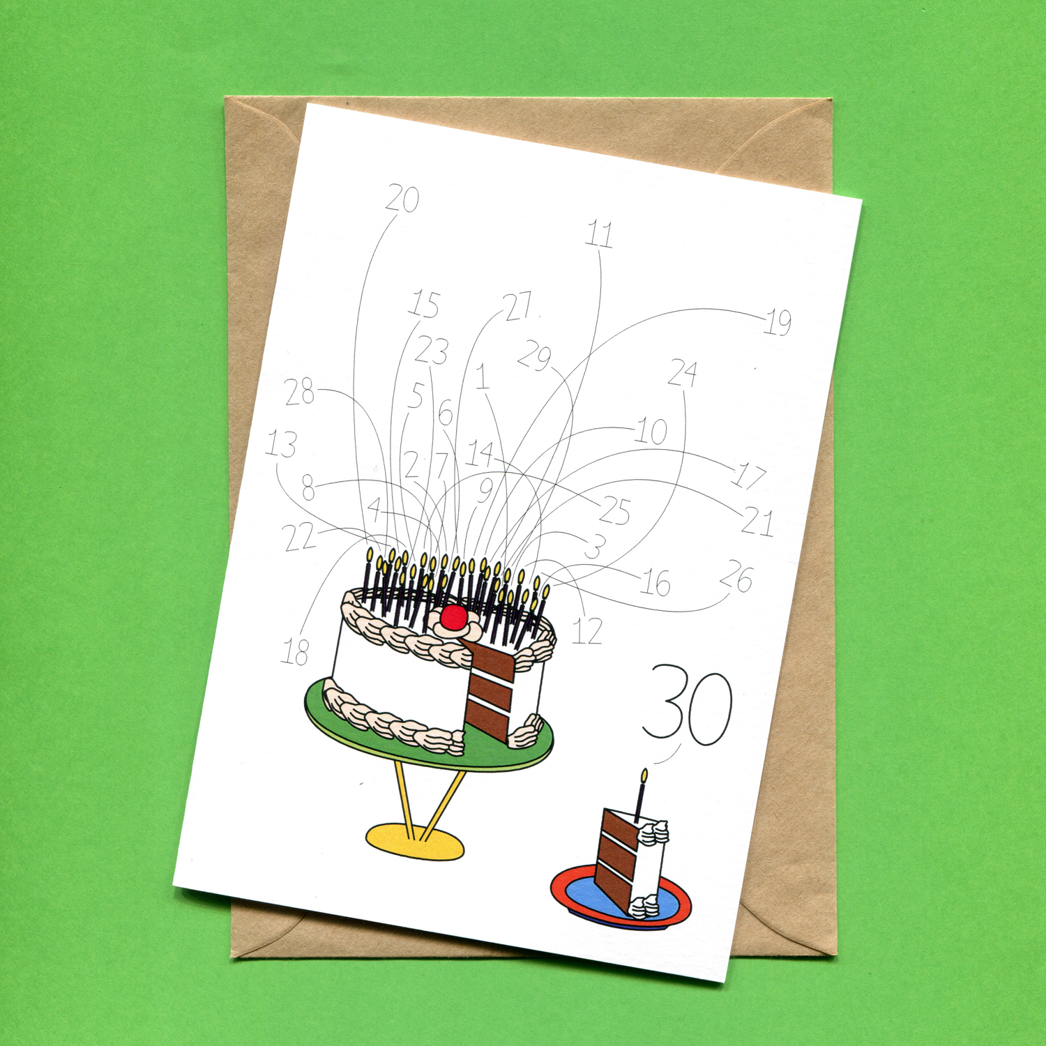 Catalogue_Things by Bean 30th Birthday Cake Card.jpg