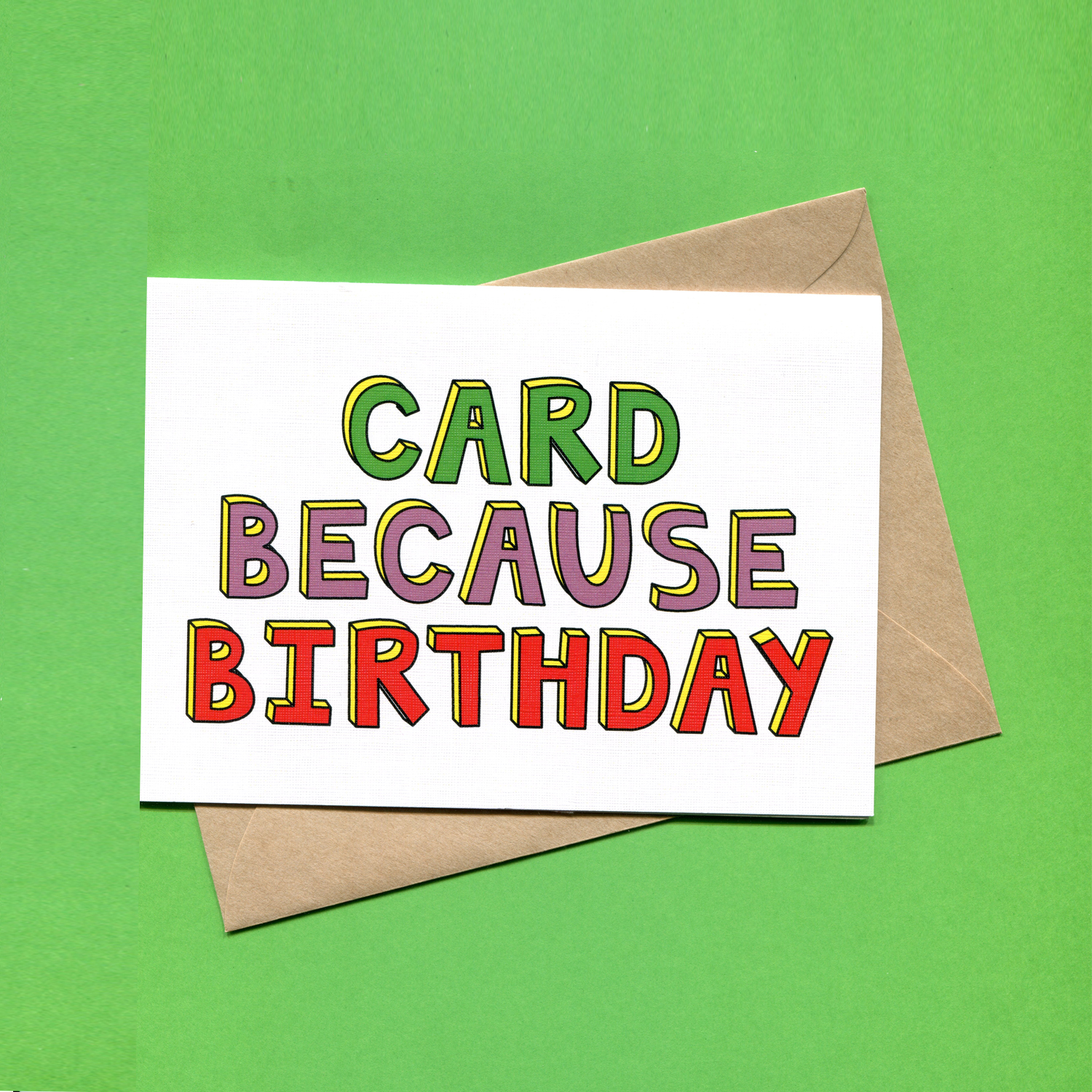 Catalogue_Things by Bean Card Because Birthday Greeting Card.jpg