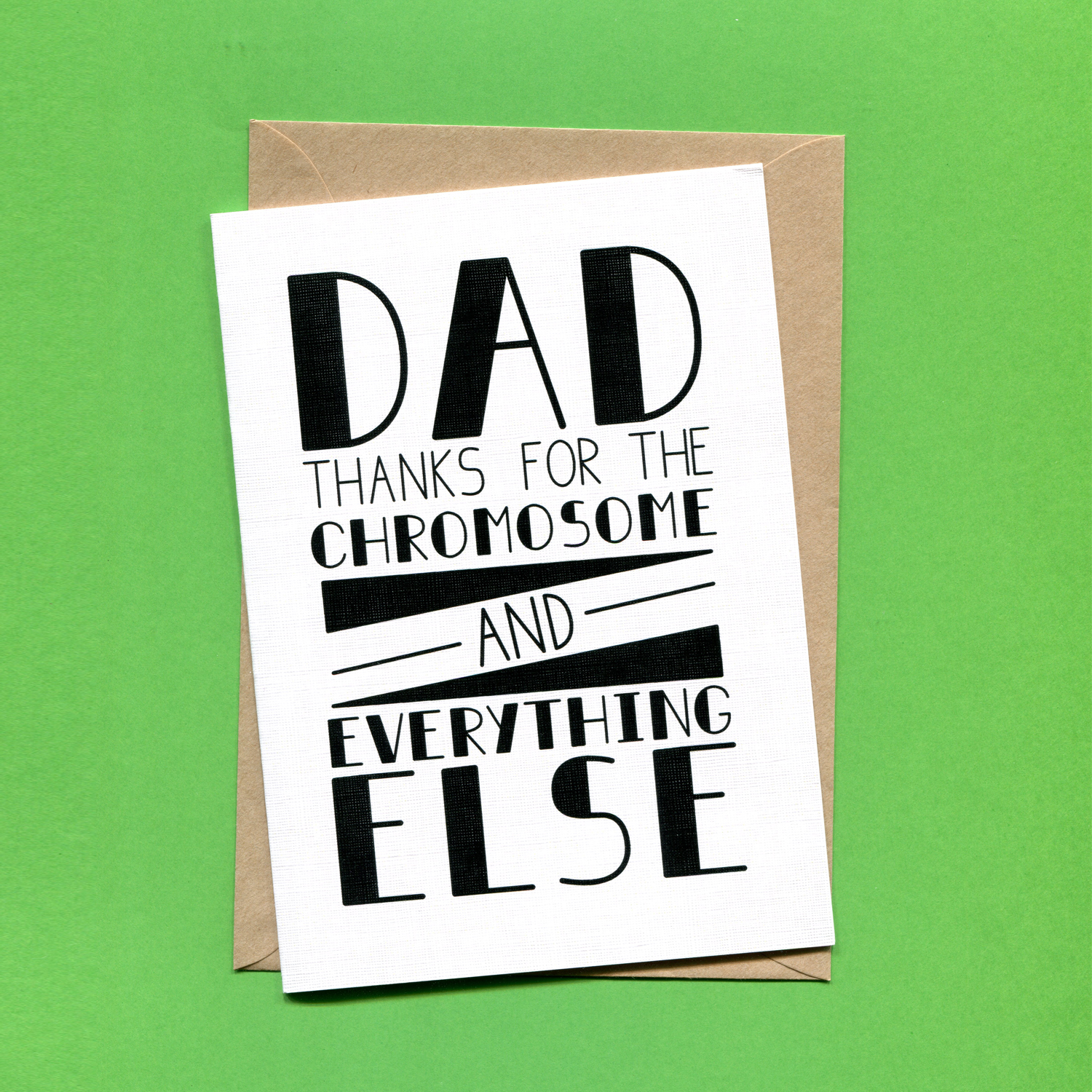 Catalogue_Things by Bean Dad Thanks for the Chromosome And Everything Else Greeting Card.jpg