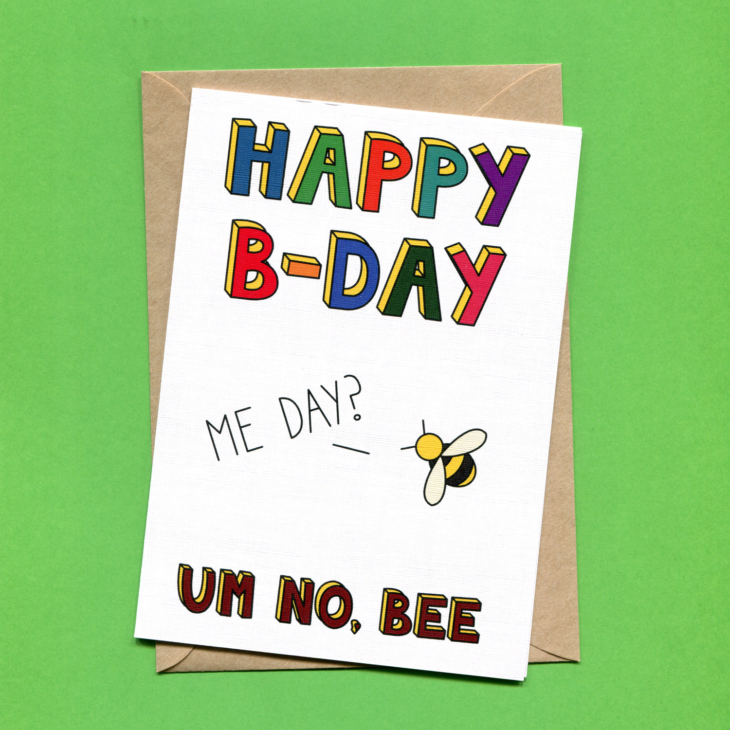 Catalogue_Things by Bean Happy Bday Bee Greeting Card.jpg