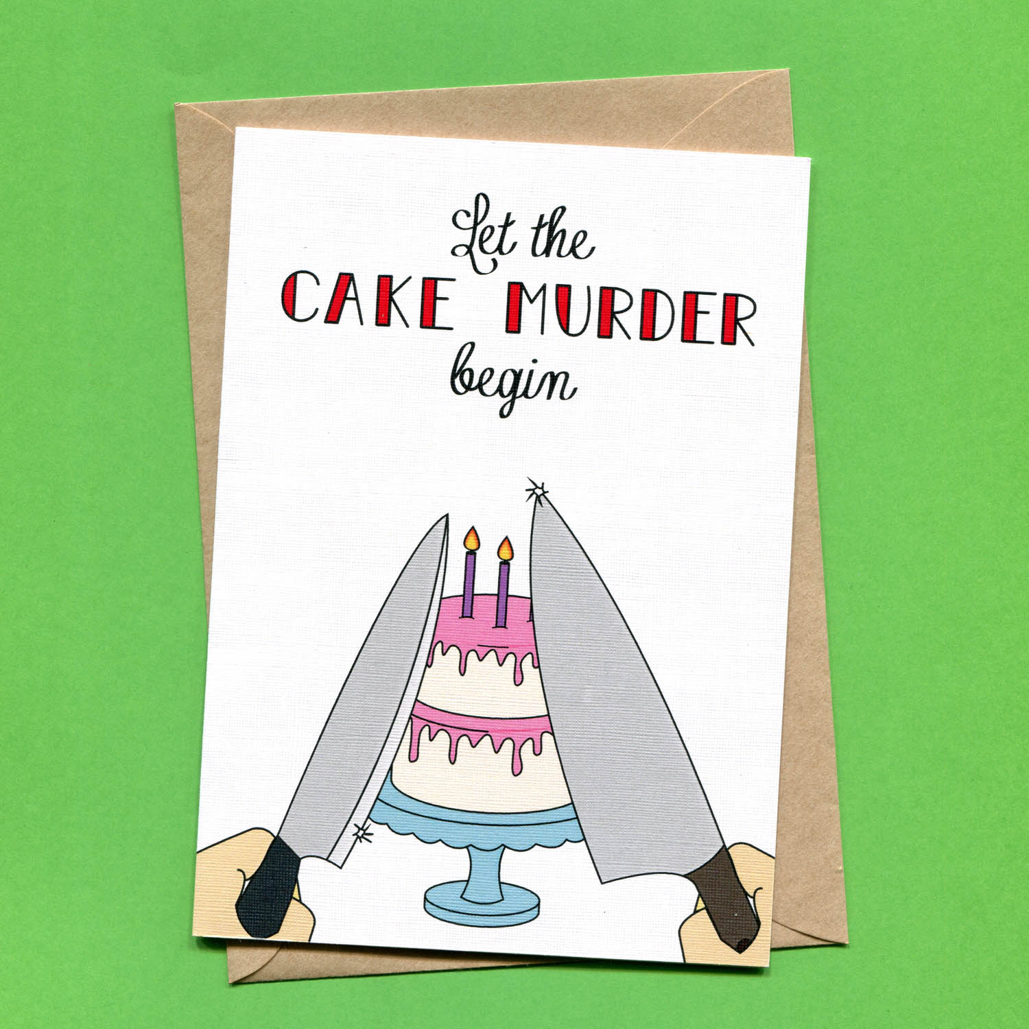 Catalogue_Things by Bean Let the Cake Murder Begin Greeting Card.jpg